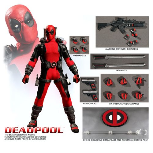 Deadpool One:12 Collective Action Figure – Free Shipping