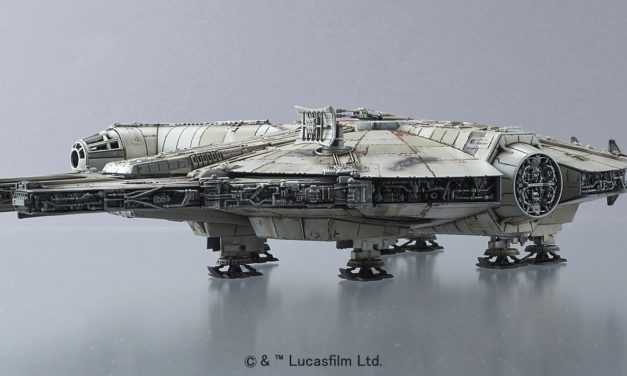 """1/144 Scale Millennium Falcon """"The Force Awakens"""" Model from Blue Fin"""