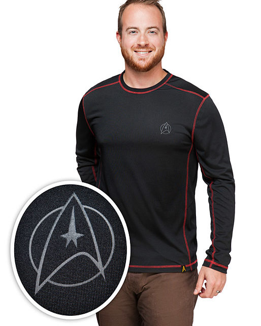 Star Trek NCC-1701 Long Sleeve Tech Shirt