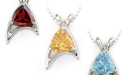 Star Trek Sterling Starfleet Trillion Necklaces (Division Colors)