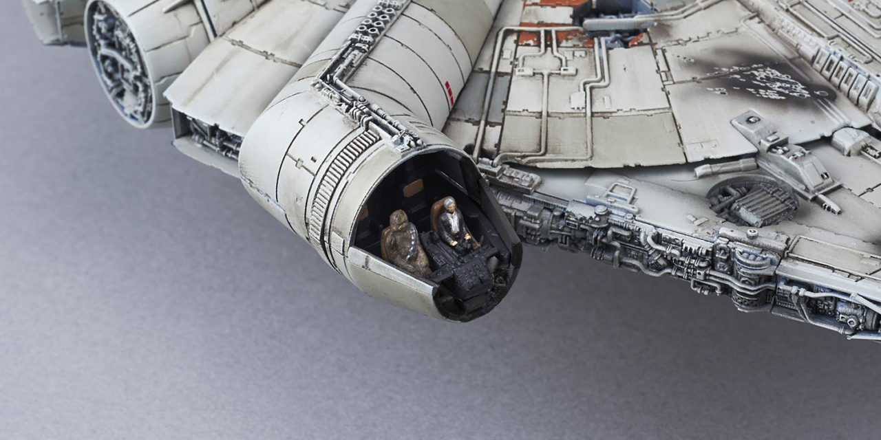 "1/144 Scale Millennium Falcon ""The Force Awakens"" Model from Blue Fin"