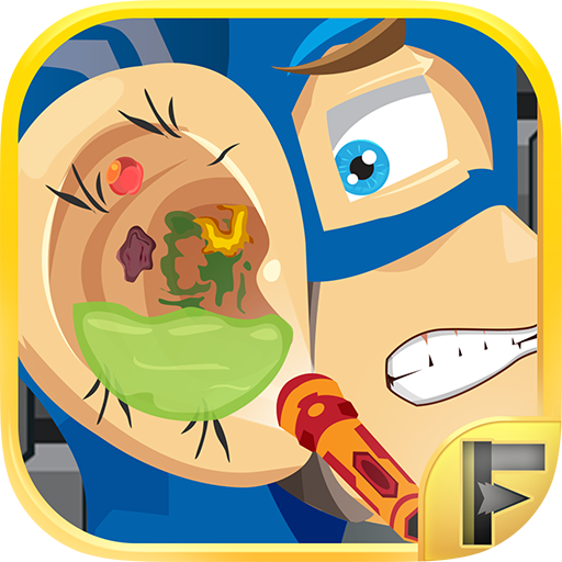 Superhero Ear Doctor Adventure Game Salon Free