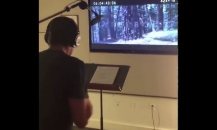 Hugh Jackman Doing ADR For Logan