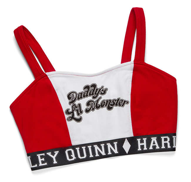 Harley Quinn Caged-Back Sports Bra
