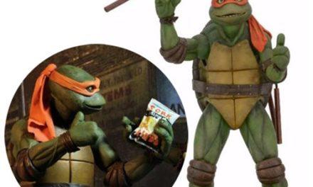Teenage Mutant Ninja Turtles Movie Michelangelo 1:4 Scale Action Figure – Free Shipping