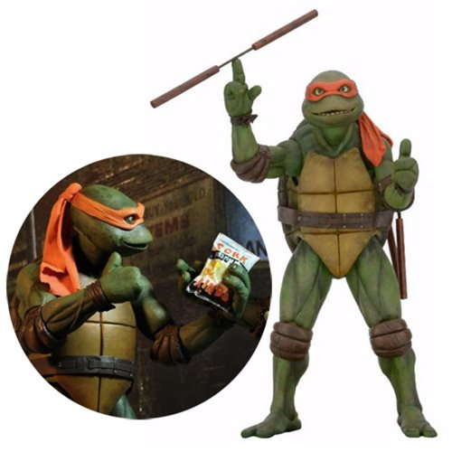 Teenage Mutant Ninja Turtles Movie Michelangelo 1:4 Scale Action Figure – Free Shipping