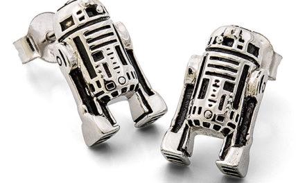 Star Wars R2-D2 Sterling Stud Earrings