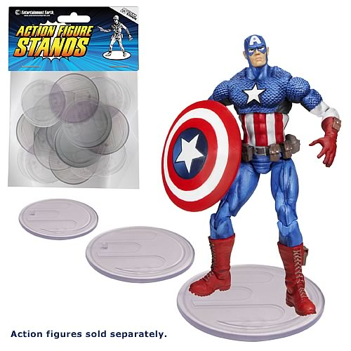 Action Figure Stands 25-Pack – Clear