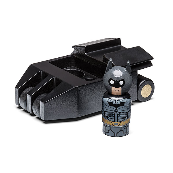 Dark Knight Batman Pin Mate with Batmobile