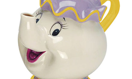 Beauty and the Beast Mrs. Potts Sculpted Ceramic Teapot