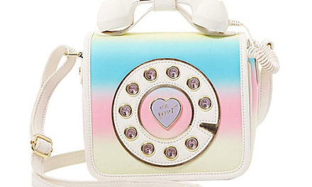 Betsey Johnson Kitsch Call Me Under The Rainbow Crossbody Purse