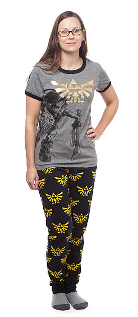 Legend of Zelda Hyrule Crest Ladies' Sleep Set