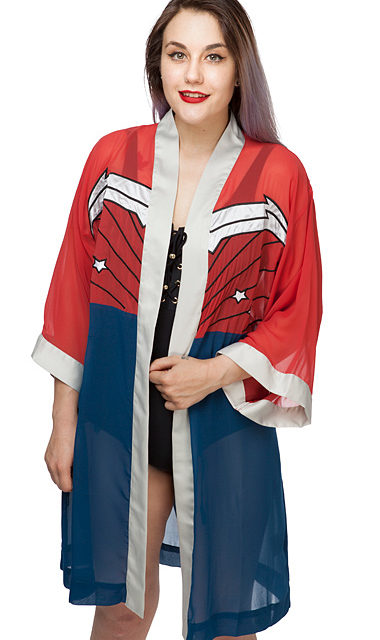 Wonder Woman Chiffon Cover-Up Robe