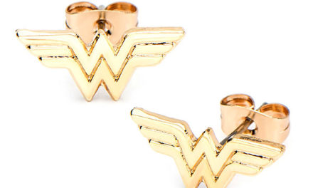 Wonder Woman Gold-Plated Stud Earrings