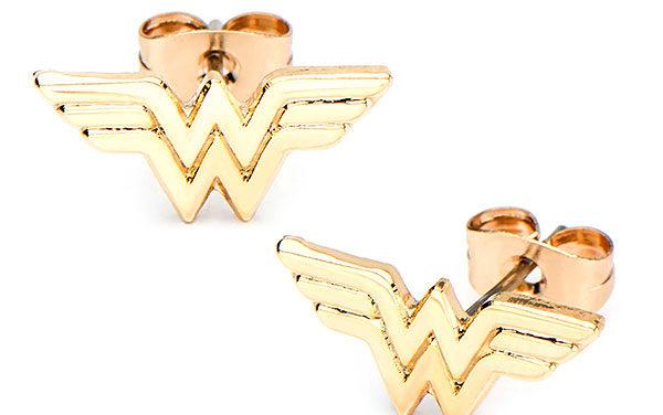 Wonder Woman Gold-Plated Stud Earrings