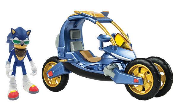 Sonic Blue Force One Transforming Bike Figure