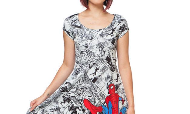 Spider-Man Comics Short-Sleeve Dress
