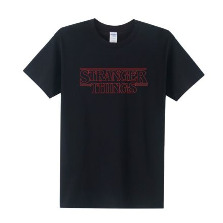 stranger things black logo Tshirt
