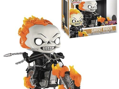 Marvel Classic Ghost Rider with Bike Pop! Vinyl Figure – Previews Exclusive