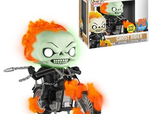 Marvel Classic Ghost Rider with Bike Glow-in-the Dark Pop! Vinyl Figure – Previews Exclusive
