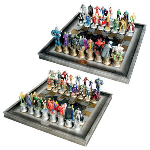DC Comics Complete Justice League Chess Set – Free Shipping