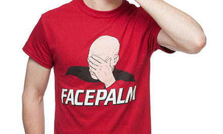 Star Trek Picard Facepalm T-Shirt