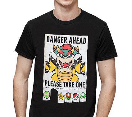 Super Mario Danger Ahead T-Shirt