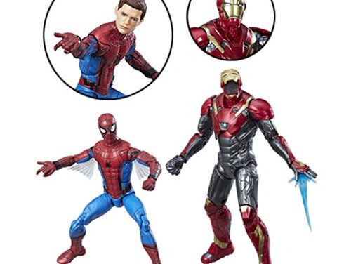 Spider-Man Homecoming Marvel Legends Spider-Man and Iron Man Action Figure 2-Pack
