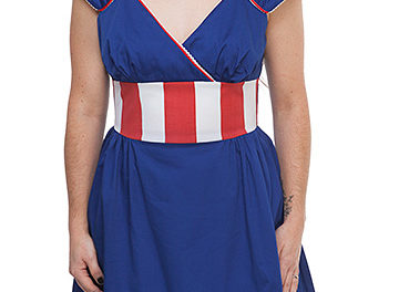 Captain America Retro Midi Dress