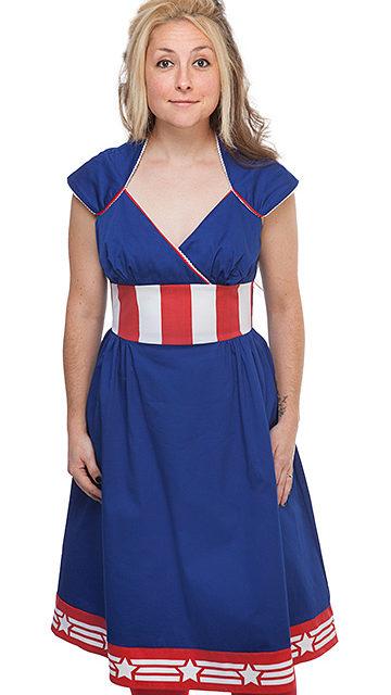 Captain America Retro Midi Dress