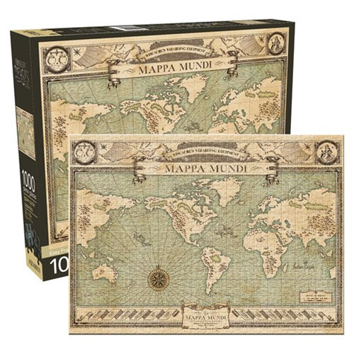 Fantastic Beasts and Where to Find Them Map 1,000-Piece Puzzle – Free Shipping