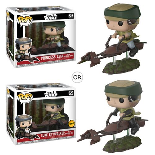 Star Wars Leia on Speeder Bike Deluxe Pop! Vinyl Bobble Head #228