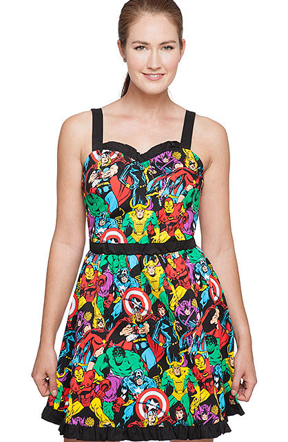 Marvel Comics Sweetheart Dress