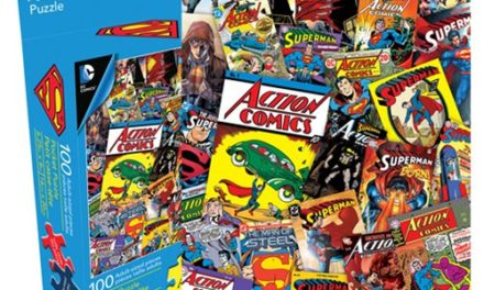 Superman Collage 100-Piece Pocket Puzzle