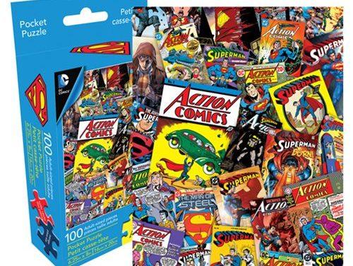 Superman Collage 100-Piece Pocket Puzzle