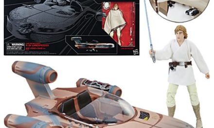 Star Wars The Black Series Luke Skywalker's Landspeeder Vehicle with Luke Skywalker Action Figure – Free Shipping