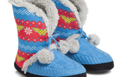 Wonder Woman Knit Bootie Slipper
