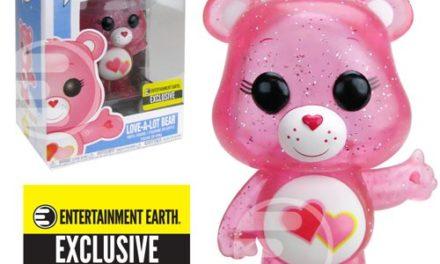 Care Bears Glitter Love-a-Lot Bear Pop! Vinyl Figure #354 – Entertainment Earth Exclusive
