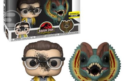Jurassic Park Dennis Nedry and Dilophosaurus Goo-Splattered Pop! Vinyl Figure 2-Pack – Entertainment Earth Exclusive