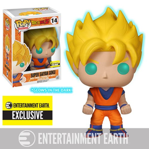 Dragon Ball Z Glow-in-the-Dark Super Saiyan Goku Pop! Vinyl Figure – Entertainment Earth Exclusive