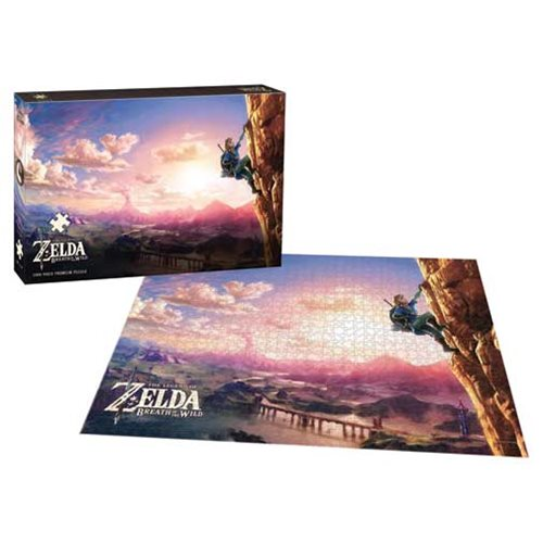 The Legend of Zelda Breath of the Wild Scaling Hyrule 1,000-Piece Puzzle