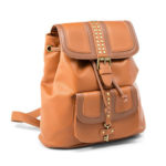 Steampunk Lock and Key Faux Leather Ladies' Backpack