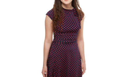 Heart Tie-Neck Bombshell Dress