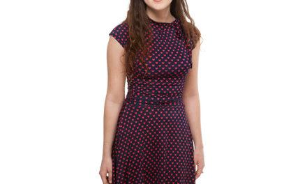 Heart Tie-Neck Bombshell Dress