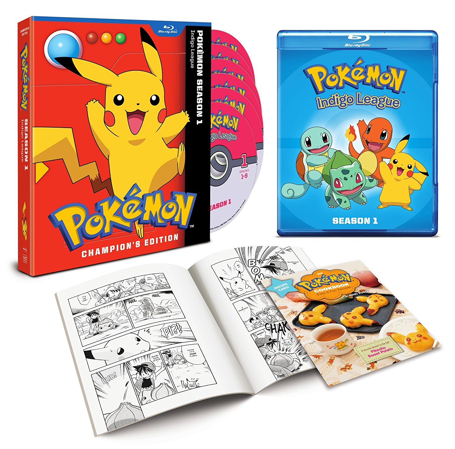 Pokemon DVD set interior