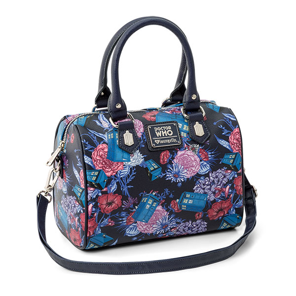 Doctor Who TARDIS and Flowers Handbag
