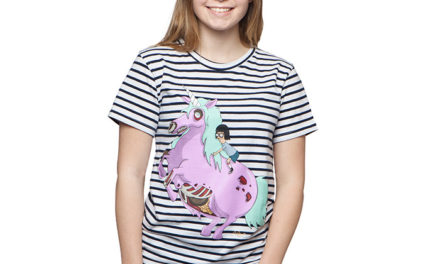Bob's Burgers Tina and Unicorn Ladies' T-Shirt
