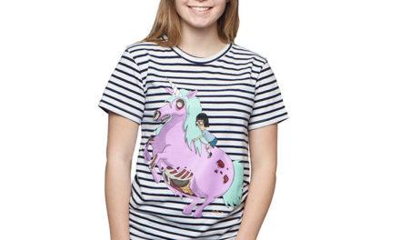 Bob's Burgers Tina and Unicorn Ladies' T-Shirt
