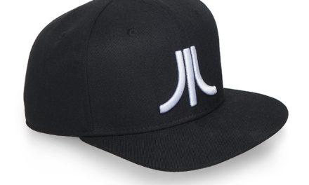 Atari Black Katakana Flat Brim Cap