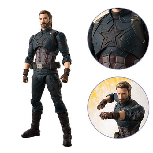 Avengers: Infinity War Captain America and Tamashii Effect Explosion SH Figuarts Action Figure – Free Shipping